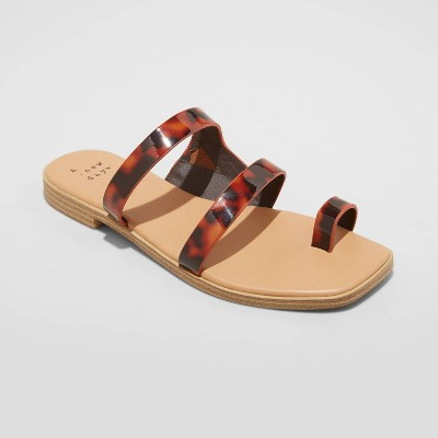 Women's Marilyn Toe Loop Slide Sandals - A New Day™