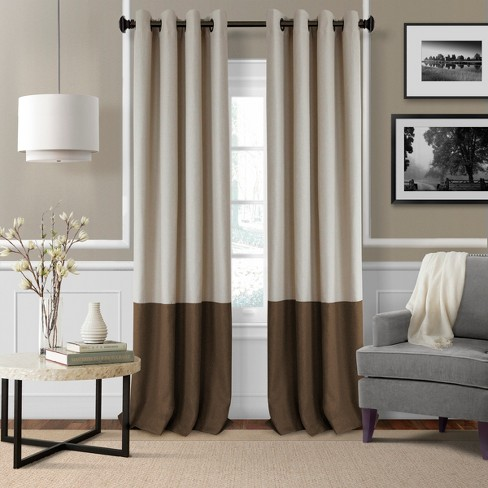 Braiden Color Block Blackout Window Curtain Panel - Elrene Home Fashions - image 1 of 4