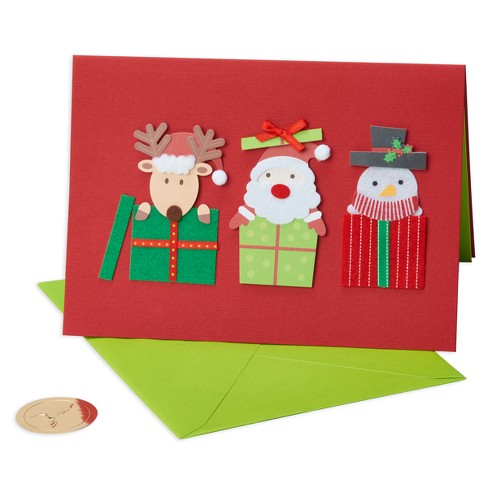 Papyrus Santa Friends Gift Boxes Greeting Card Target