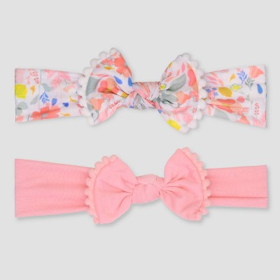 Baby Girls' 2pk Poms Headwrap - Just One You® made by carter's Pink
