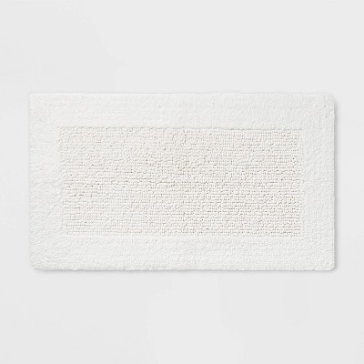 34 x20  Performance Textured Bath Rug White - Threshold™