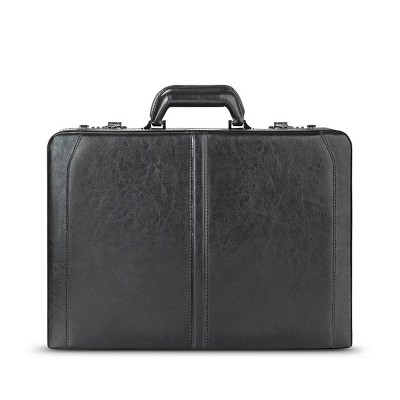 Solo New York Broadway Premium Leather Attached Briefcase with Combination Locks - Black