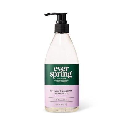 Lavender & Bergamot Liquid Hand Soap - 12 fl oz - Everspring™