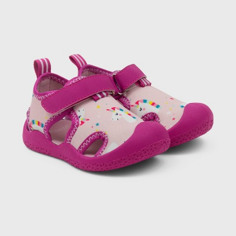 Ro+Me by Robeez Baby Girls' Rubber Unicorn Shoes - image 1 of 4