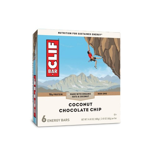 CLIF Bar Coconut Chocolate Chip Energy Bars - 6ct - image 1 of 4
