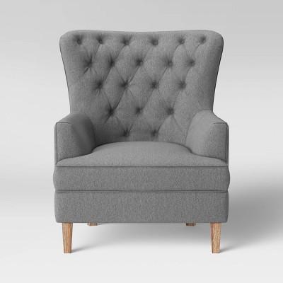 Emmorton Accent Wing Chair Dark Gray - Threshold™