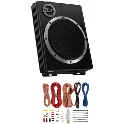 "SOUNDSTORM LOPRO10 10"" 800W Car Under Seat Powered Subwoofer & Installation Kit"