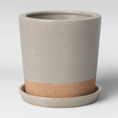"8"" Earthenware Planter Gray - Smith & Hawken™"