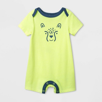 Baby Boys' Cheetah Romper - Cat & Jack™ Lime 0-3M