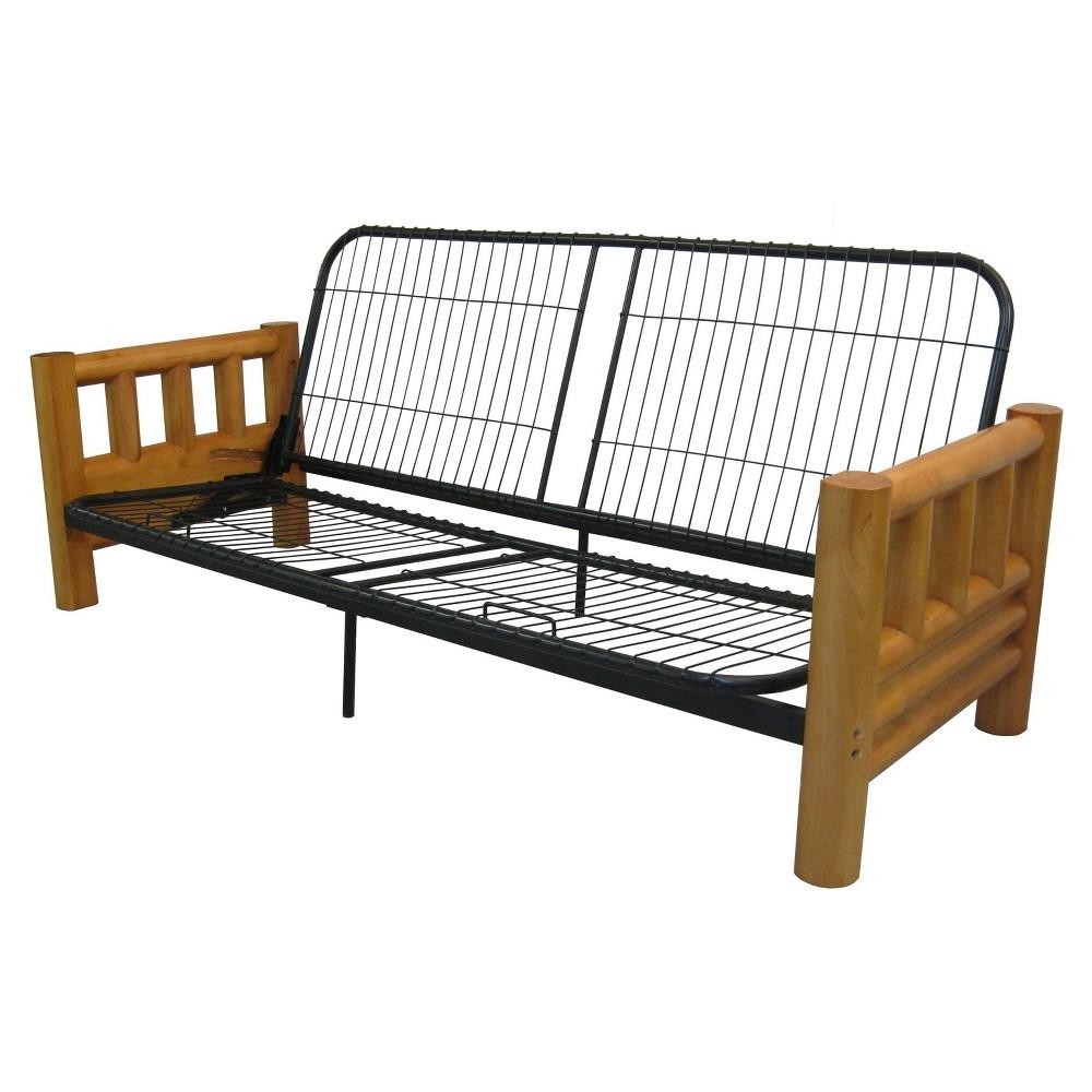 Lodge Futon Sofa Sleeper Bed Frame - Epic Furnishings, Beige
