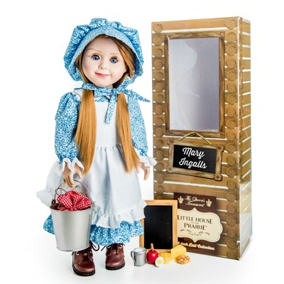 """Little House on the Prairie 18"""" Mary Ingalls Doll and School Accessories"""