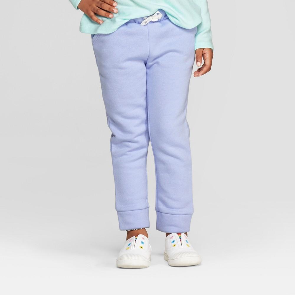 Toddler Girls' Fleece Jogger Pants - Cat & Jack Light Purple 18M, Blue