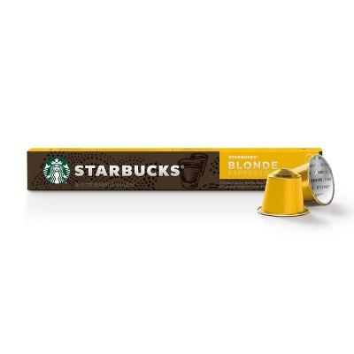 Starbucks Nespresso Blonde Espresso Coffee Pods - 10ct