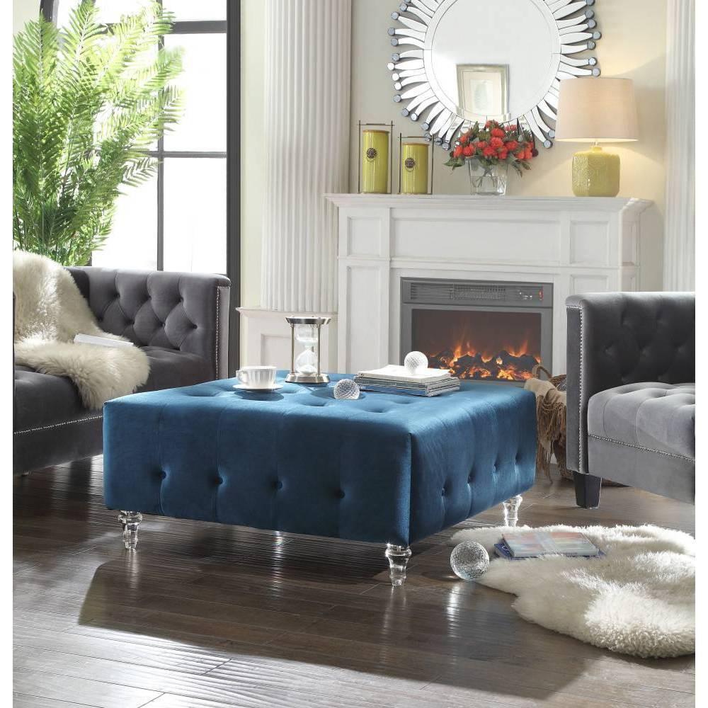 Derek Ottoman Blue - Chic Home Design was $419.99 now $293.99 (30.0% off)