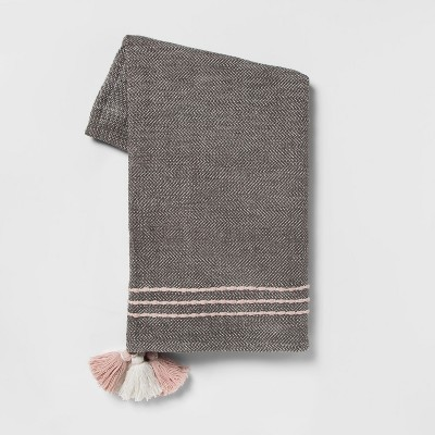 60 x50  Tassels Throw Blanket Gray - Opalhouse™