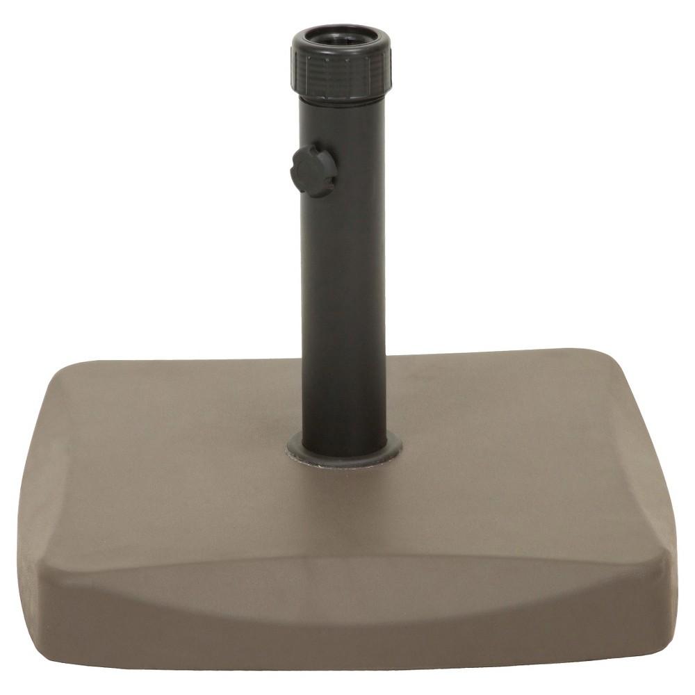 55-pound Square Patio Umbrella Base- Brown - Christopher Knight Home