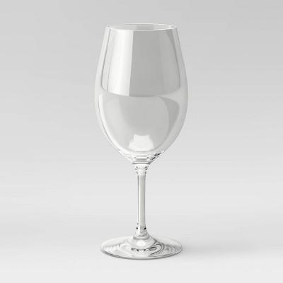 20oz Plastic Stemmed Wine Glass - Threshold™