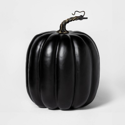 Painted Halloween Pumpkin Large Black   Hyde And Eek! Boutique by Hyde And Eek! Boutique