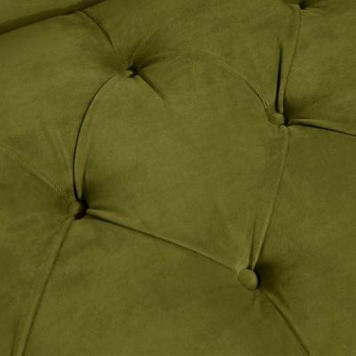 Button Tufted Chaise Settee Velvet Applegreen - Threshold