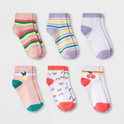 Girls' 6pk Fruit Super Soft Ankle Socks - Cat & Jack™