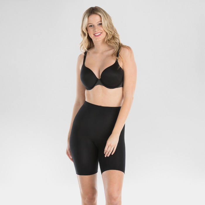Assets by Spanx Women's Mid-Thigh Shaper - Black 1X - image 1 of 3