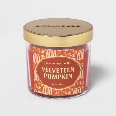4.1oz Lidded Glass Jar Velveteen Pumpkin Candle - Opalhouse™