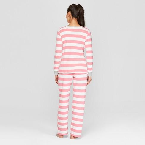622d36793 Women s Striped Pajama Set - Pink   Target