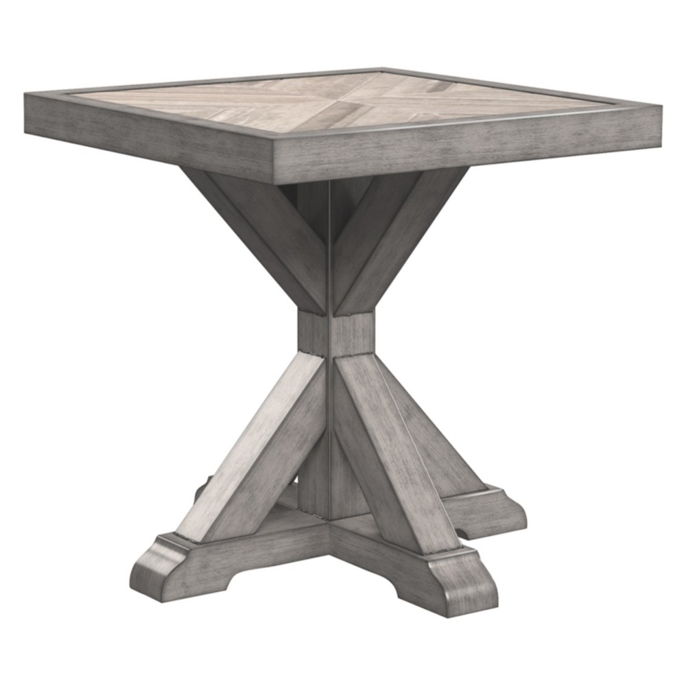 Image of Beachcroft Square End Table - Beige - Outdoor by Ashley