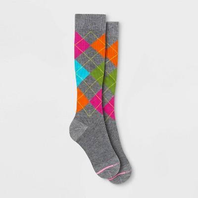 Dr. Motion Women's Mild Compression Argyle Knee High Socks 4-10