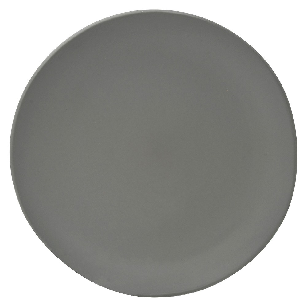 10 Strawberry Street Matte Wave Stoneware Charger Plates 12.8 Gray - Set of 6