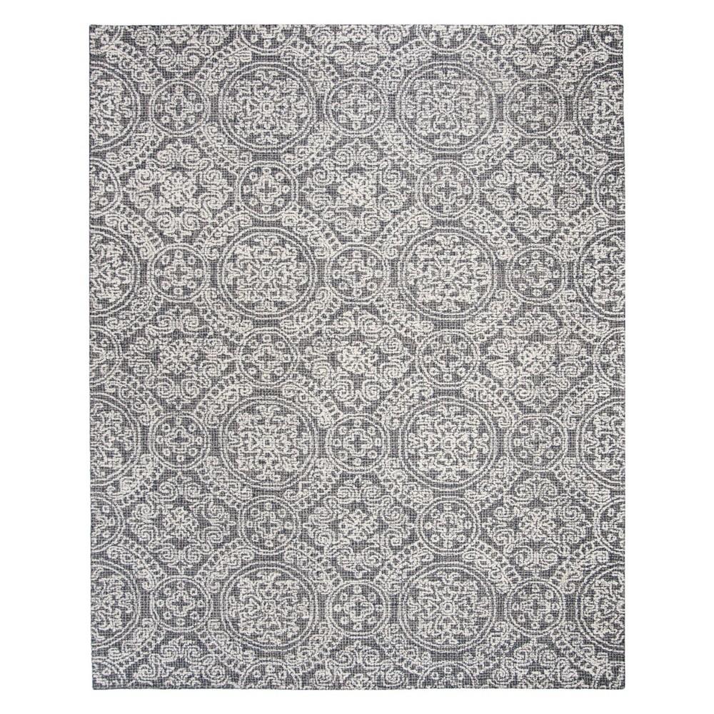 8'X10' Medallion Tufted Area Rug Gray/Ivory - Safavieh, Gray White