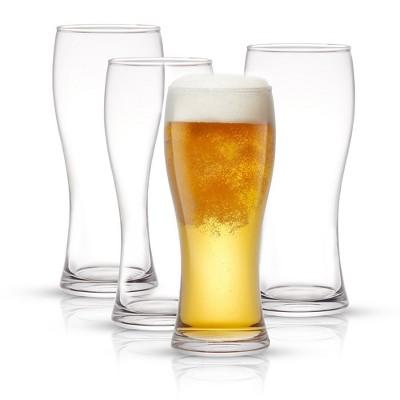 JoyJolt Callen Beer Glasses - Set of 8- Pint Glass Capacity Pilsner Beer Glass  - 15.5oz