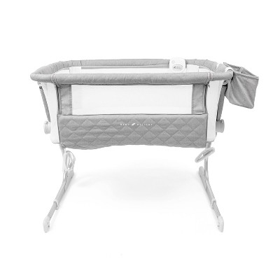 Baby Delight Beside Me Somni Deluxe Bassinet and Bedside Sleeper - Quilted Gray
