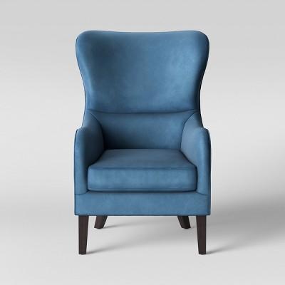 Torenia Wingback Chair Velvet Blue - Opalhouse™