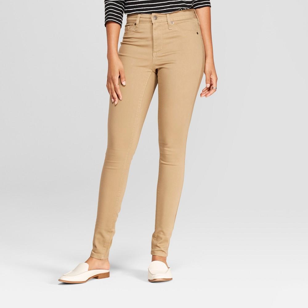 Women's High-Rise Jeggings - Universal Thread Khaki 10 Short, Beige