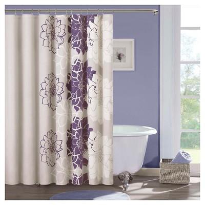Jane Cotton Shower Curtain - Purple