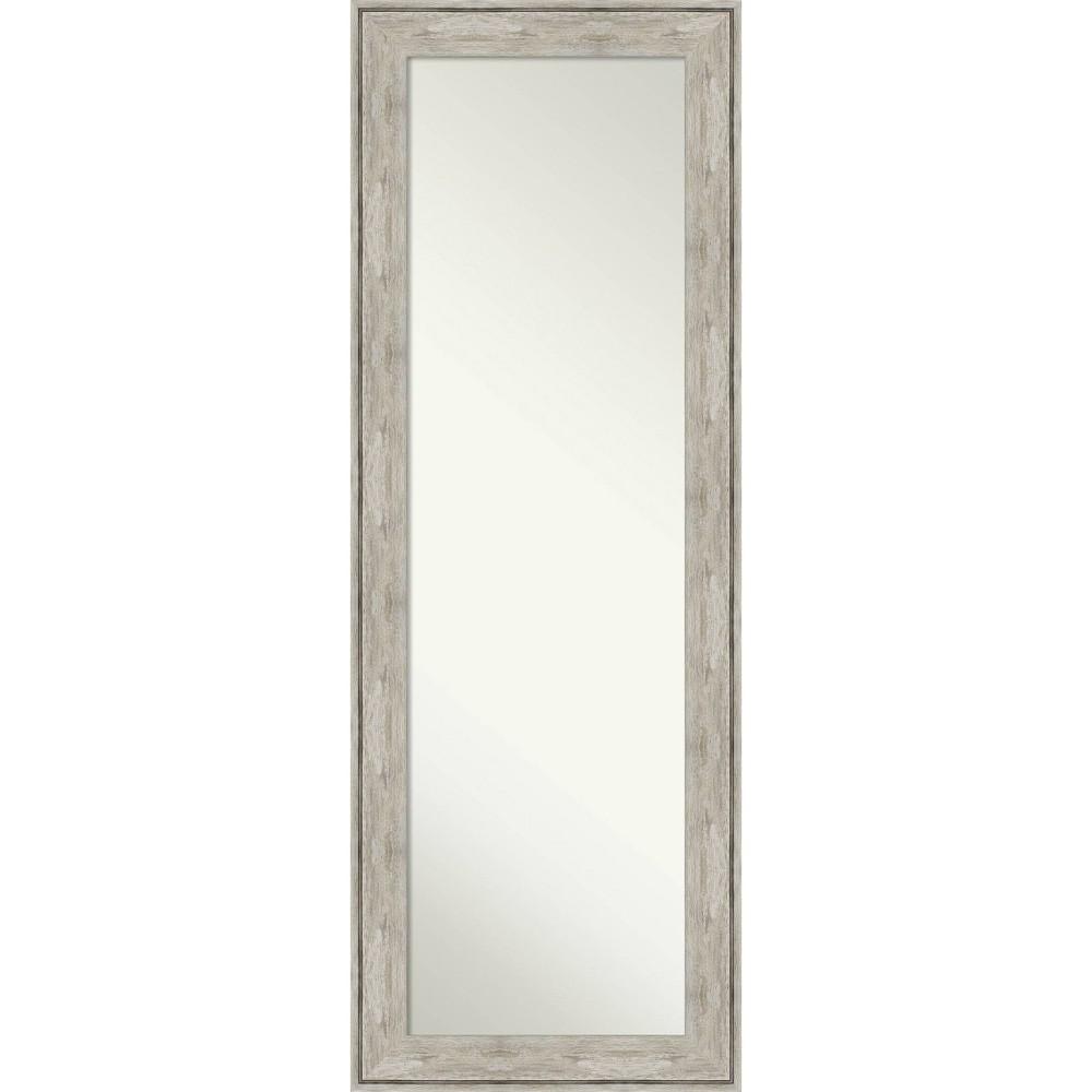 19 34 X 53 34 Crackled Framed On The Door Mirror Metallic Amanti Art