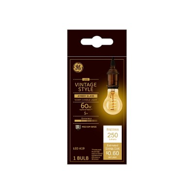 General Electric VintaAline Spiral Amber LED Light Bulb White