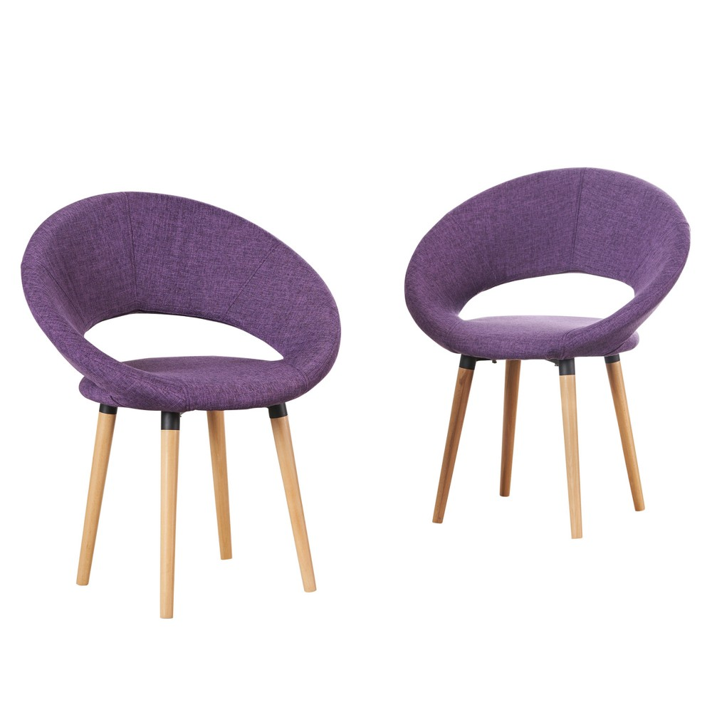 Wondrous Keegan Dining Chair Muted Purple Set Of 2 Christopher Knight Inzonedesignstudio Interior Chair Design Inzonedesignstudiocom