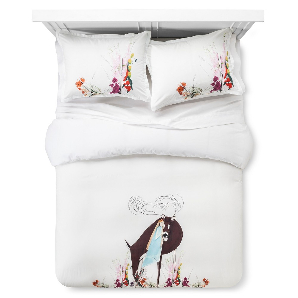 Image of Artwork Series: 'Embrace' by Jon Lau Duvet Cover Set (Full/Queen) - AiR, Multicolored