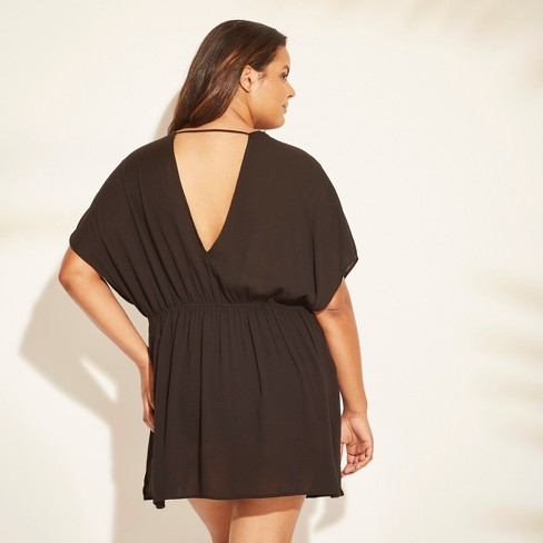 0d79eaa6c0 Women's Lace Trim Tie Front Cover Up - Cover 2 Cover : Target