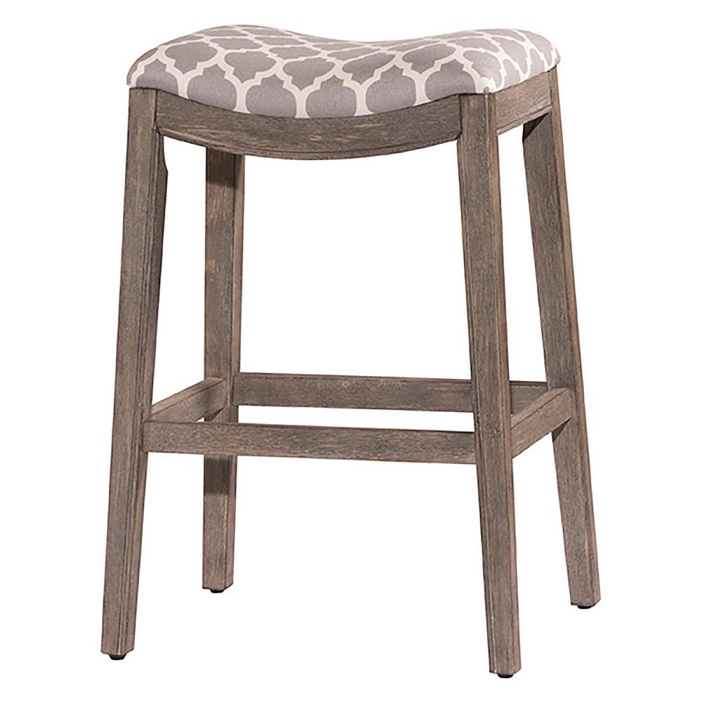 29.75 Sorella Backless NonSwivel Bar Stool Gray/Trellis Gray - Hillsdale Furniture