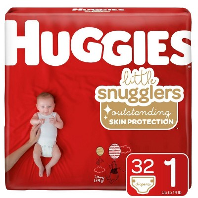 Huggies Little Snugglers Diapers Jumbo Pack - Size 1 (32ct)
