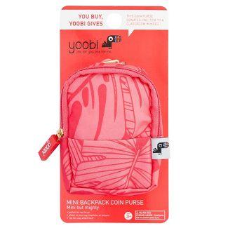 Coin Purse Keychain Mini Backpack Coral - Yoobi™