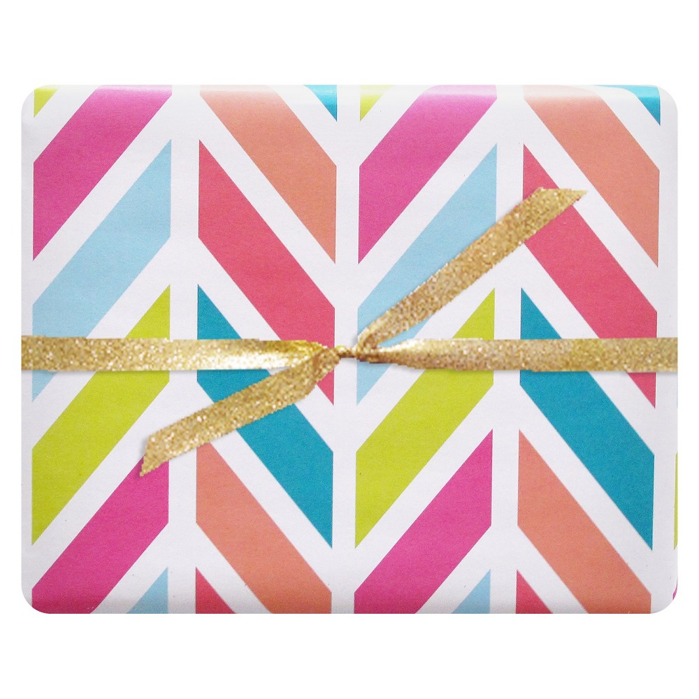 Image of 3ct Happy Herringbone Luxe Gift Wrap