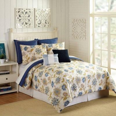 Presidio Square 7pc Monterey Comforter & Sham Set Ivory/Navy