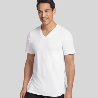 Jockey Generation™ Men's Stay New Cotton 3+1 Bonus Pack V-Neck T-Shirt - White XL