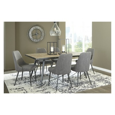 Set Of 2 Coverty Dining Upholstered Side Chair Light Brown   Signature  Design By Ashley : Target