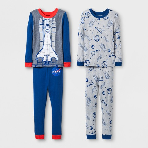 fffad5a06095 Toddler Boys  NASA 4pc Cotton Pajama Set - Heather...   Target