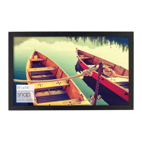 Single Image  8.5X14 Black Wood Frame - Gallery Solutions - image 1 of 4